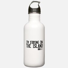 I'm Staying On The Island Water Bottle