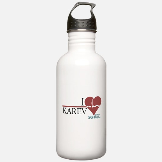 I Heart Karev - Grey's Anatomy Water Bottle