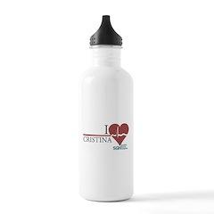 I Heart Cristina - Grey's Anatomy Water Bottle
