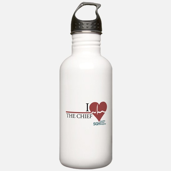 I Heart The Chief - Grey's Anatomy Water Bottle