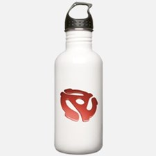 Red 3D 45 RPM Adapter Water Bottle