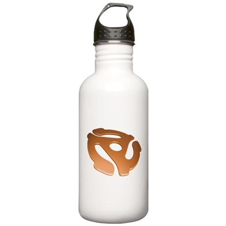 Orange 3D 45 RPM Adapter Stainless Water Bottle 1.
