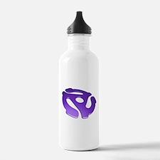 Purple 3D 45 RPM Adapter Water Bottle
