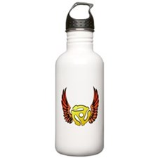Red Winged 45 RPM Adapter Water Bottle