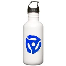Blue 45 RPM Adapter Water Bottle
