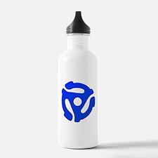 Blue 45 RPM Adapter Water Bottle