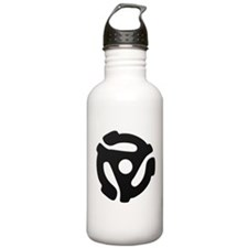 Black 45 RPM Adapter Water Bottle