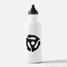Black 45 RPM Adapter Water Bottle