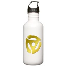 Gold 45 RPM Adapter Water Bottle