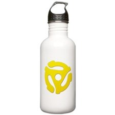 Yellow 45 RPM Adapter Water Bottle