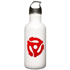 Red 45 RPM Adapter Water Bottle
