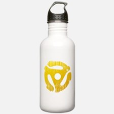 Distressed Yellow 45 RPM Adapter Water Bottle