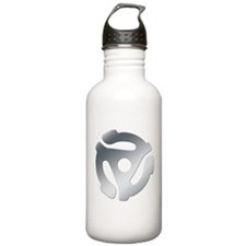 Silver 45 RPM Adapter Water Bottle