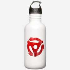 Distressed Red 45 RPM Adapter Water Bottle