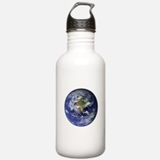 Western Earth from Space Water Bottle
