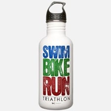 Swim, Bike, Run - Triathlon Water Bottle