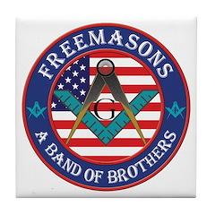 Freemasons. A Band of Brothers Tile Coaster