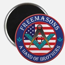 "Freemasons. A Band of Brothers 2.25"" Magnet (10 pa"