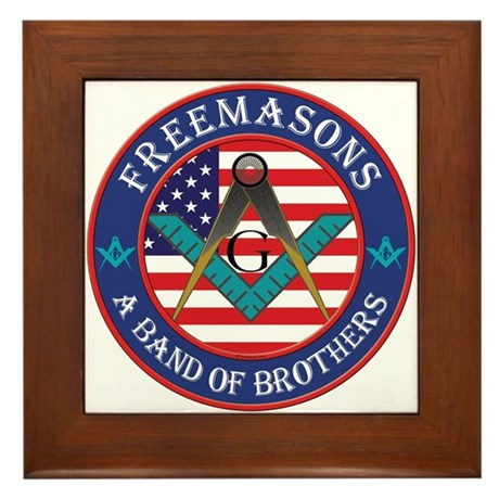 Freemasons. A Band of Brothers Framed Tile