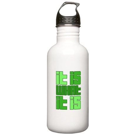 Green - It Is What It Is Stainless Water Bottle 1.