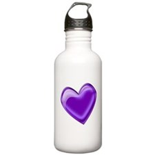 Purple Jelly Heart Water Bottle