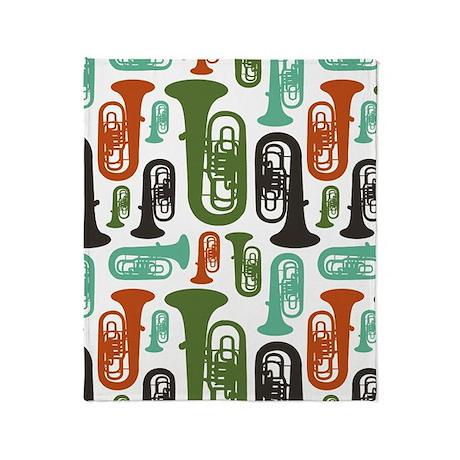 Tuba Throw Blanket