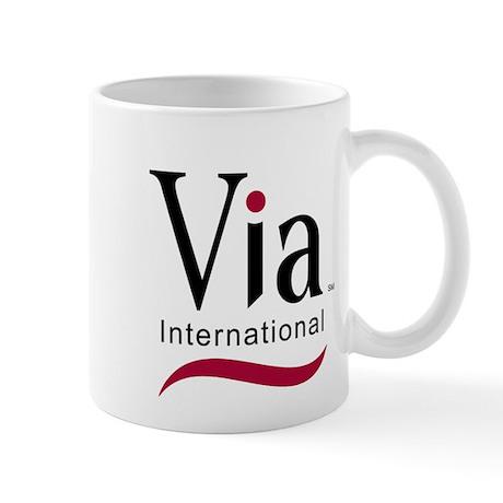 via-logo color Mugs