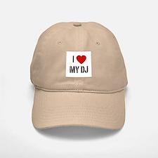 I Heart My DJ Baseball Baseball Cap
