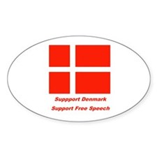 Support Denmark Oval Decal