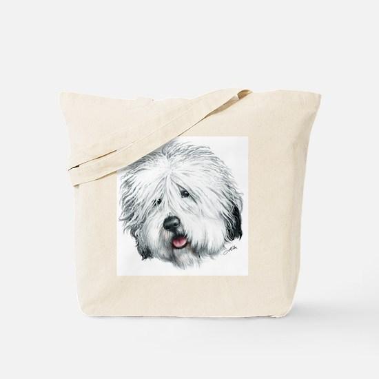 Sweet Old English seheepdog Tote Bag