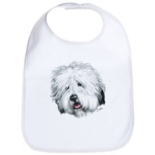 Sweet Old English seheepdog Bib