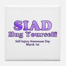 Self Injury Awareness Day Tile Coaster