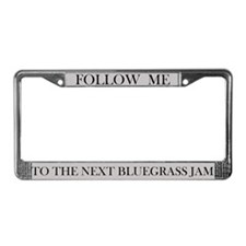 Bluegrass Jam License Plate Frame (grey)