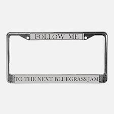 Bluegrass Jam License Plate Frame (grey)