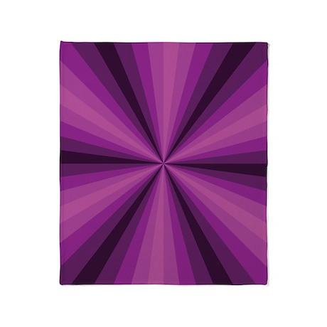 Purple Illusion Throw Blanket