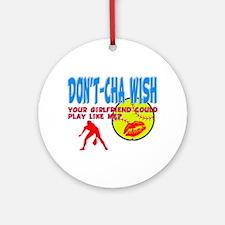 Girls Softball Ornament (Round)