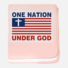One Nation Under GOD Infant Blanket