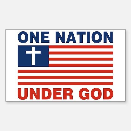 One Nation Under GOD Sticker (Rectangle)
