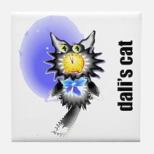 Salvador Dali's Cat Tile Coaster
