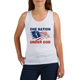 One nation under god Women's Tank Tops