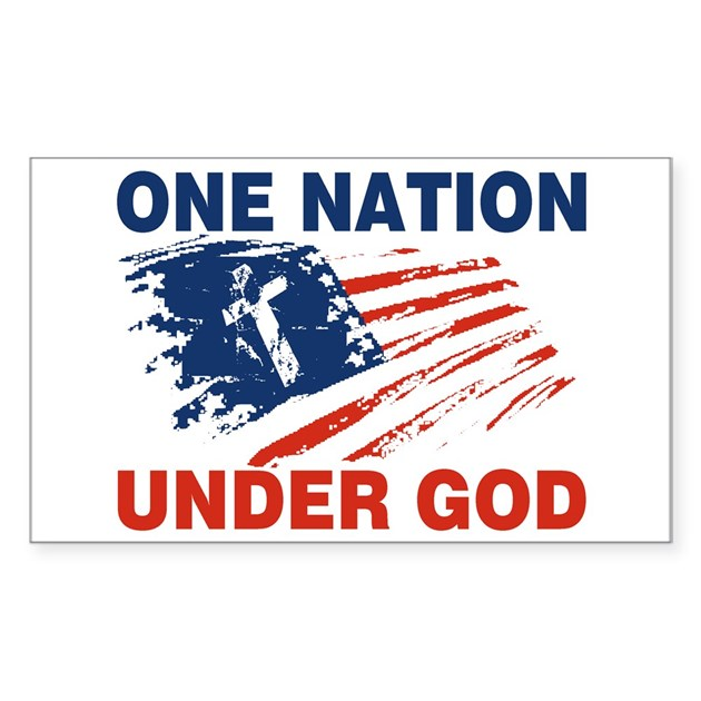 One Nation Under GOD Sticker Rectangle By Cpshirts
