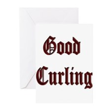 Good Curling Greeting Cards (Pk of 10)