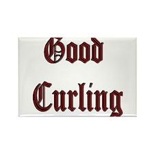 Good Curling Rectangle Magnet