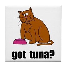 Got Tuna Cat Tile Coaster