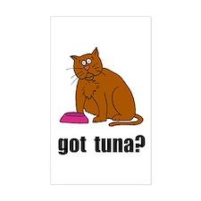 Got Tuna Cat Rectangle Decal