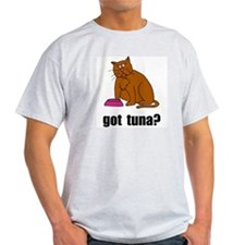 Got Tuna Cat Ash Grey T-Shirt