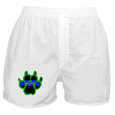 Green Paw Print 2* Boxer Shorts