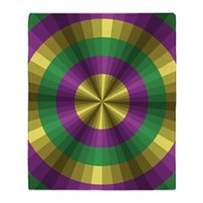 Mardi Gras Illusion Throw Blanket