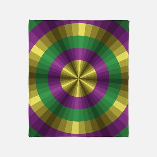 Mardi Gras Illusion Throw Blanket
