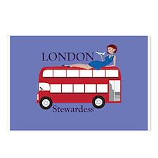 London Stewardess Postcards (Package of 8)